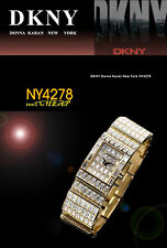DKNY LADIES GOLD GLAMOUR CRYSTALS COLLECTION WATCH NY4278