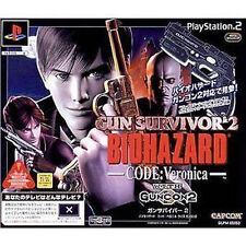 GUN SURVIVOR 2 BIOHAZARD CODE Veronica WITH Guncon SET PS2 Import Japan