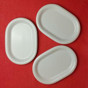 3x Arzberg Daily Weiß Beilagenplatten Oval Platten Servierplatten 22cm Porzellan