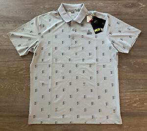 Puma Mattr X Formstripe Moving Day Golf Polo Shirt Gray Mens SZ M ( 599433 04 )