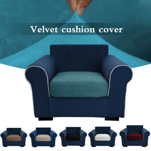 Replacement Sofa Seat Cushion Cover Couch Velvet Cover Fabric Stretchy Protector