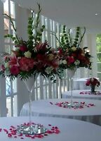 6 x Large Martini Cocktail Glass Wedding Table Centrepiece Event Decoration 40cm