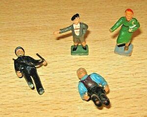 CORGI Plastic Figures x4 - Ski figure/ Thames Ice Cream/ Policeman etc