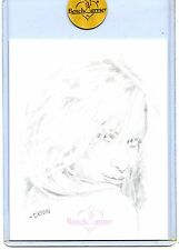 2007 BENCHWARMER SHANNON MALONE JUMBO SKETCH CARD BY DYSON