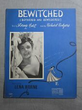 LENA HORNE bewitched (bothered & bewildered) 1950's SHEET MUSIC!