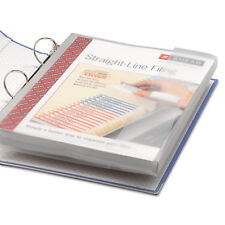 Smead Poly Ring Binder Pockets 9 x 11-1/2 Clear 3/Pack 89500