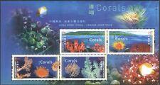 Hong Kong 2002 (Canada joint issue) Coral/Marine/Nature/Wildlife 4v m/s (b9514)