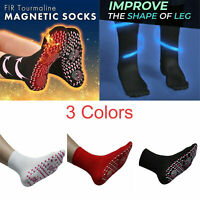Unisex Magnetic Self Heating Socks Therapy Warm Tourmaline Socks Pain Relief New