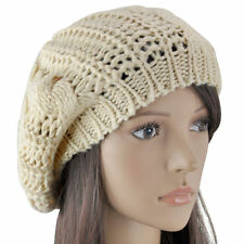 New Warm Winter Womens Knit Crochet Ski Hat Braided Baggy Beret Beanie Cap Xmas/