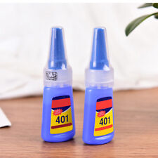 2X LOCTITE 401 SUPER GLUE INSTANT ADHESIVE 20G METAL RUBBER CERAMIC LEATHER CHY