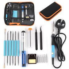 Amzdeal Fer /à Souder Electronique Temp/érature R/églable 60W Soudage 3 en 1 Kit avec 5 PCS T/êtes Diff/érents Fil de Soudure pour Divers R/éparation