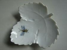 kleine, alte Blattschale mit Insekt, Ludwigsburg