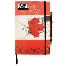 Canada Flag Notebook - Hardback A5 - Canadian Maple Leaf Notebook - Flag Journal