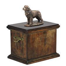 Terranova CONMEMORATIVO Urna para de perro cenizas, con Estatua, madera maciza