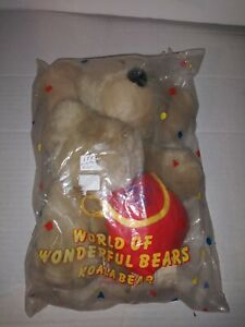 "Vintage! 1989 Avon Wonderful World Of Bears Koala Bear 9"" with backpack NIP"
