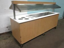 """""""DUKE"""" H.D. COMMERCIAL LIGHTED REFRIGERATED 92""""W COLD FOOD BUFFET / SALAD BAR"""