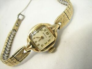 Vintage Ladies Wittnauer Swiss Wrist Watch 10K Gold Filled Case & Speidel Band