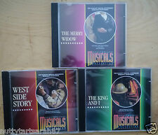 3 Orbis Musical Collection CDS King & I Merry Widow West Side Story Nr MINT