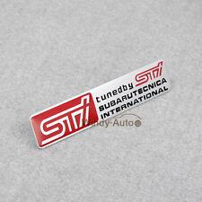 Side Rear Tuned by STI Emblem Badge Sticker For Subaru WRX Forester BRZ Legacy