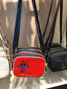 NWT COACH 2544 COACH MARVEL JES CROSSBODY WITH SPIDER-MAN IN MIAMI RED MULTI