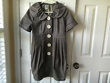 Ladies Ivy Jane Gray Short Sleeve Coat Medium