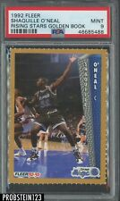 1992 Fleer Rising Stars Golden Book Shaquille O'Neal Magic RC Rookie HOF PSA 9