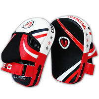 VELO Focus Pads Curved Mitts Hook and Jab Punch Bag Kick Boxing Muay Thai MMA