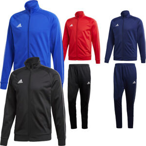 Adidas Mens Core 18 Top Jacket or Bottoms Pants Tracksuit Football Sports Gym