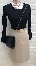 Laura Ashley Skirt Size 14 Beige Wool Cashmere Pencil Straight Warm Winter