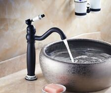 Black Oil Rubbed Brass Single Handle Kitchen Swivel Sink Faucet Mixer Tap 8nf506