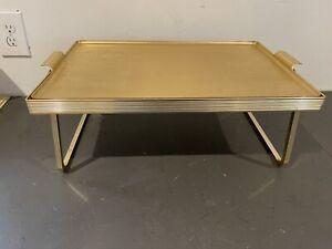 Vintage Sylvan Aluminum Tray And Stand  Mid-Century MCM