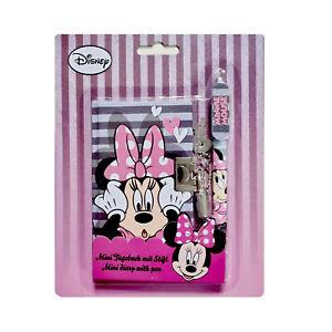 Mini-Tagebuch Minnie Mouse mit Stift, Schloss + 2 Schlüsseln Kindertagebuch