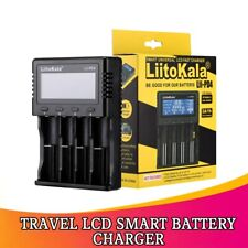 Travel LCD Smart Battery Charger for 21700 20700 26650 18650 RCR123a AA AAA /Car