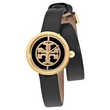 Tory Burch Reva Black Dial Wrap Around Leather Ladies Watch 4019