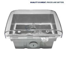 Weatherproof Box IP66 Enclosure Mounting Clear Lid For Power Points Lockable