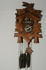 Vintage German Cuckoo Clock 1 day 3 weights