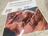 Ultimate Warrior Hand Signed Autographed photo WWE Signed WWF Jim Hellwig