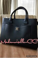 Chanel Black Executive Bag Shopping Tote Shoulder Bag Brand New 2017 Caviar