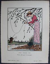 Guy ARNOUX Pochoir Art Déco ORIGINAL N°8 pl. II - 6/1913 RARE GAZETTE DU BON TON