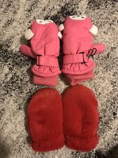 Mittens Set 3-4T  Thinsulate Pink And Fluffy Red Order Brand