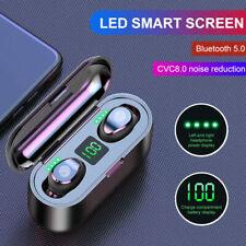 Bluetooth 5.0 Earbuds Wireless Earphones TWS Stereo Deep Bass in-Ear Headphones