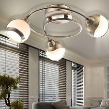 Rondell Leuchte Ess Zimmer Decken Beleuchtung Glas Spot Küchen Lampe champagner