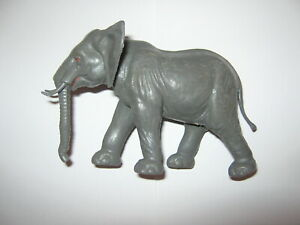 Elephant plastic grey figure 125 mm x 75 mm no brand  Adult male v/g condition .