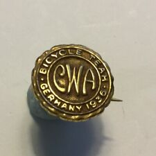 1936 Canada Olympic Pin Berlin Badge, Canadian Wheelmen's Association Pin