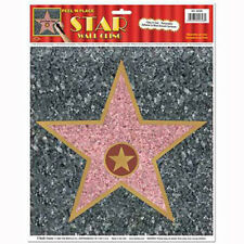 Party Supplies Birthday Hollywood Movie Star Night Walk of Fame Stickers Pack 4