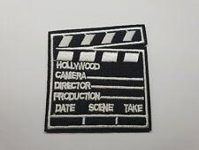 Quality Iron/Sew on Movie Clapper board patch biker clapperboard take 2 slate