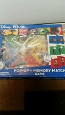 Pop-Up Memory Match Game Disney Pixar Open Box New 72 Cards Cardinal Instruction