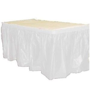 14' Plastic Table Skirts - Bulk Packs - 22 Colors- FREE SHIPPING