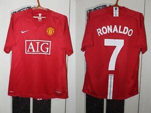 Manchester United 2007 2008 2009 Ronaldo Nike Home Shirt Jersey Size L