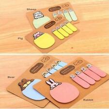 Cute Animal Kraft Paper Mini Sticky 4 Styles Notes Marker Memo Pad Stationery A1